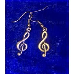 Boucles d'oreilles clef de...